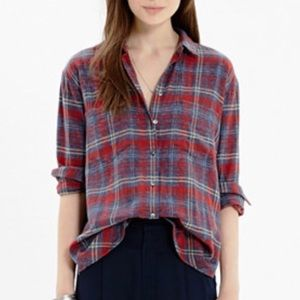 Madewell Flannel Boyshirt Bainbridge Plaid Shirt